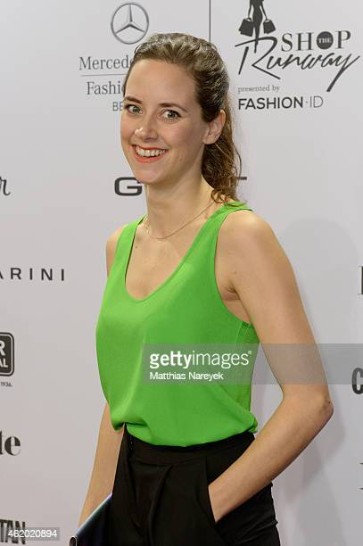 Anja Knauer attends the 'Shop the Runway by Fashion ID' show during the MercedesBenz Fashion Week Berlin Autumn/Winter 2015/16 at Brandenburg Gate on...