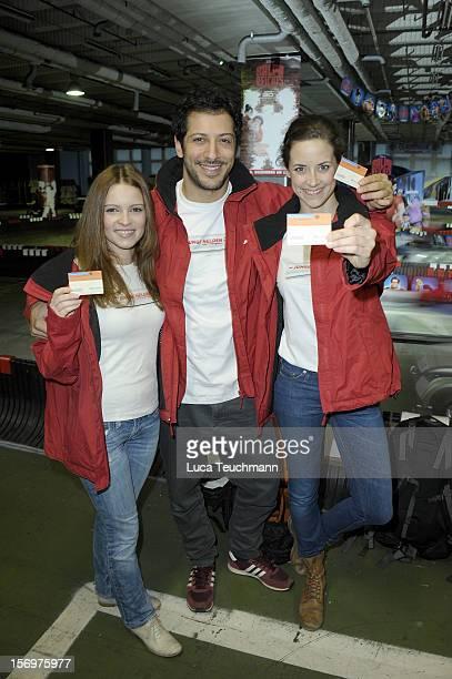 Anja Knauer Fahri Yardim and Jennifer Ulrich attend the photocall 'Wreckin Ralph' on November 26 2012 in Berlin Germany