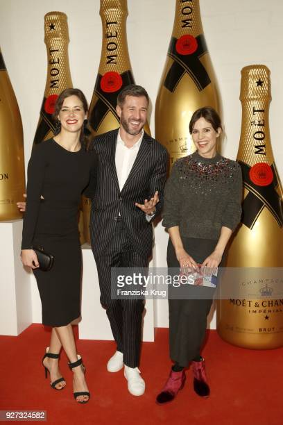 Anja Knauer Jochen Schropp and Birthe Wolter during the Moet Academy Night on March 4 2018 in Berlin Germany