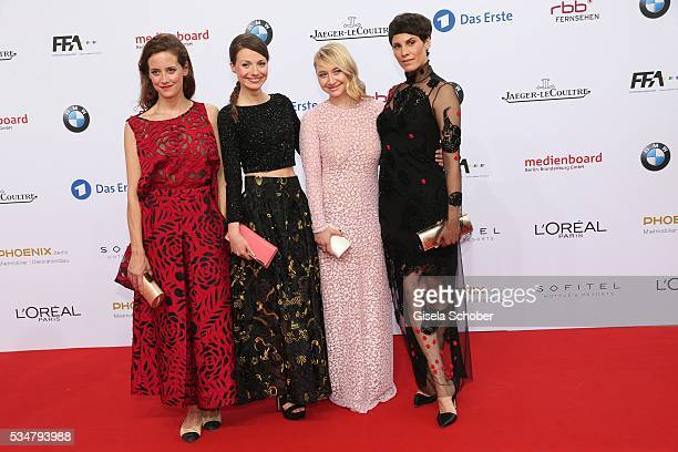 Anja Knauer Julia Hartmann Anna Maria Muehe and jasmin Gerat attend the Lola German Film Award 2016 on May 27 2016 in Berlin Germany
