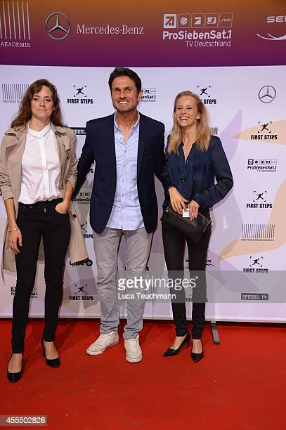 Anja Knauer Simon Verhoeven and Susanne Bormann attends the First Steps Award 2014 at Stage Theater on September 15 2014 in Berlin Germany