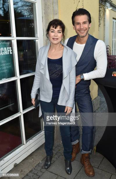 Anja Kruse and Florian Odendahl during the NdF after work press cocktail at Parkcafe on March 14 2018 in Munich Germany