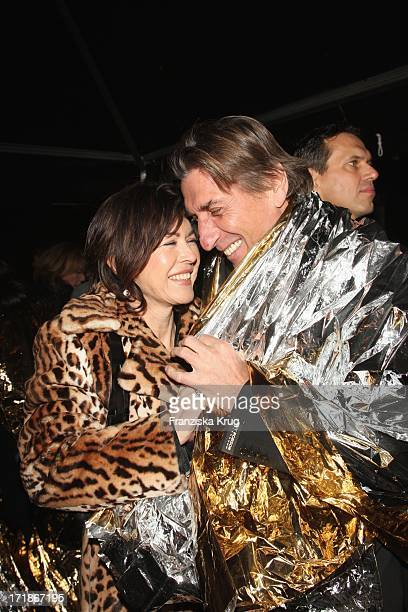Anja Kruse And friend Norbert Blecha at Baldessarini Strictly Private Launch In Munich