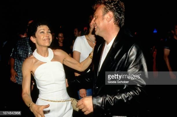 Anja Kruse and JeanLouis Daniel dance during the Grease Party in June 1998 in Munich Germany