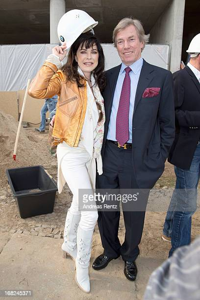 Anja Kruse and Leopold von Bayern attend roofing ceremony at BMW new Berlin location at BMW Niederlassung Berlin on May 7 2013 in Berlin Germany