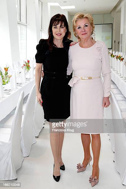 Anja Kruse and Liz Mohn attend the Ladies Lunch at the Ellington Hotel on April 10 2013 in Berlin Germany