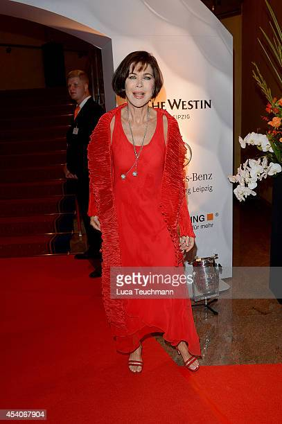 Anja Kruse attends the 7th GRK Golf Charity Masters Leipzig gala at The Westin Leipzig on August 23 2014 in Leipzig Germany