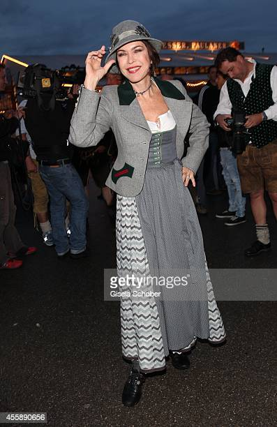 Anja Kruse attends the 'Almauftrieb' at Kaefer tent during Oktoberfest at Theresienwiese on September 21 2014 in Munich Germany