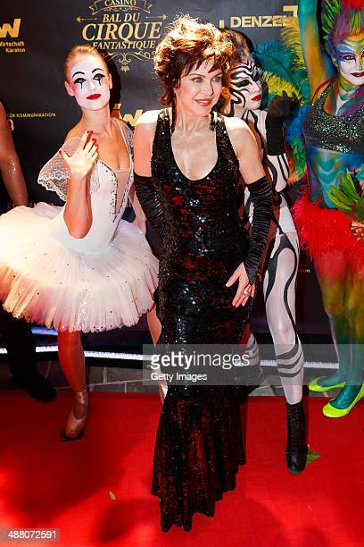 Anja Kruse attends the Bal Du Cirque Fantastique on the occasion of the 25th anniversary of the Casino Velden at Casino Velden on May 3 2014 in...