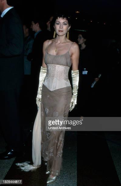 Anja Kruse der Verleihung des Telestar 1998 in Köln, Deutschland 1998 im Maritim Hotel(.