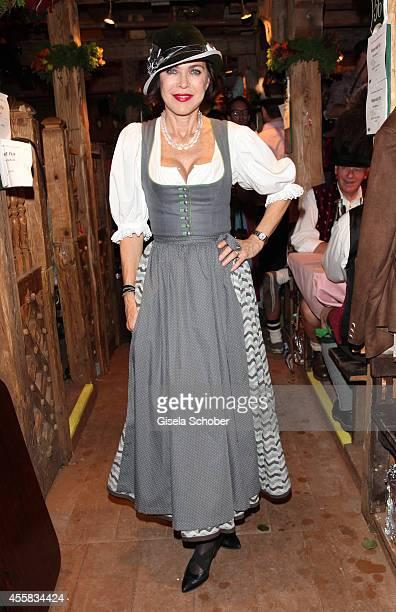 Anja Kruse during the Oktoberfest Opening in Kaeferzelt at Theresienwiese on September 20 2014 in Munich Germany