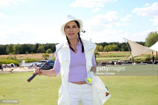 Anja Kruse golfs during the 11th GRK Golf Charity Masters on August 11 2018 at Golt Country Club Machern near Leipzig Germany