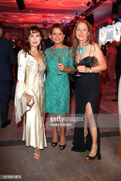 Anja Kruse Uschi Glas Birgitt Wolff during the 11th GRK Golf Charity Masters reception on August 11 2018 at The Westin Hotel in Leipzig Germany