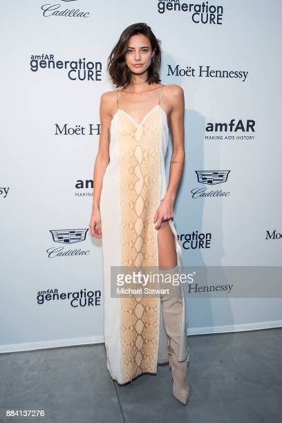 Anja Leuenberger attends the 2017 amfAR generationCURE holiday party at the Cadillac House on December 1 2017 in New York City