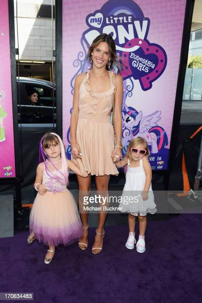 Anja Louise Ambrosio Mazur and Alessandra Ambrosio arrive at the 'My Little Pony Equestria Girls' premiere during the 2013 Los Angeles Film Festival...