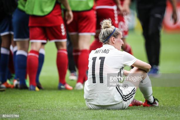 Anja Mittag of Germany reacts after the UEFA Women's Euro 2017 Quarter Final match between Germany and Denmark at Sparta Stadion on July 30 2017 in...