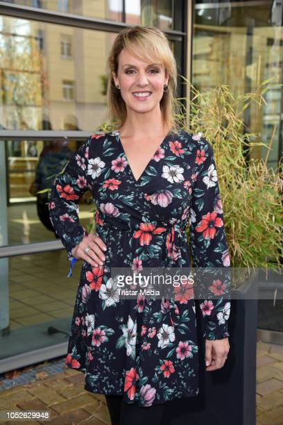 Anja Nejarri attends the ARD TV series 'In aller Freundschaft' 20 years anniversary fanfest at Media City on October 20, 2018 in Leipzig, Germany.