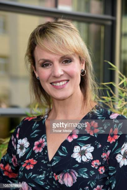 Anja Nejarri attends the ARD TV series 'In aller Freundschaft' 20 years anniversary fanfest at Media City on October 20 2018 in Leipzig Germany