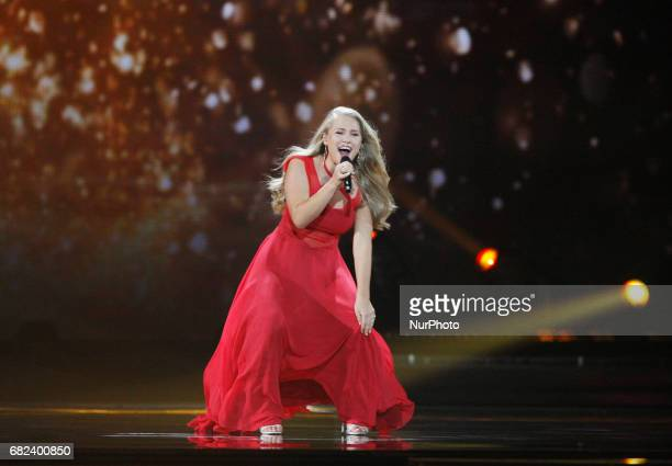 Anja Nissen from Denmark performs with the song quotWhere I Amquotduring the rehearsal for the Grand Final of the Eurovision Song Contest in Kiev...