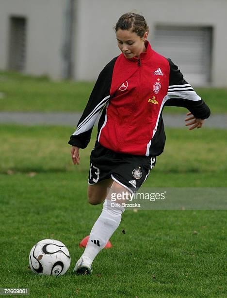 Anja Pfluger during a woman's U 15 seminar at the Sportschule Egidius Braun on November 29 2006 in Leipzig Germany