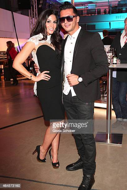 Anja Polzer and her boyfriend DJTO during the Pre Opening Event Exhibition Insights by Mayk Azzato presented by KARE Kraftwerk on February 26 2015 in...