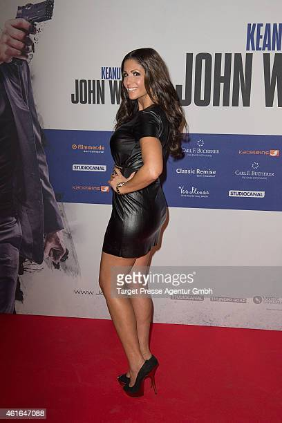 Anja Polzer attends a special preview of the film 'John Wick' on January 16 2015 in Berlin Germany