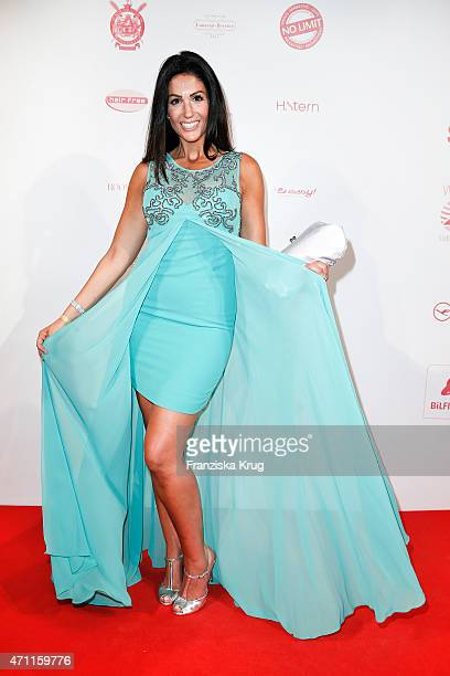 Anja Polzer attends the Fashion Charity Event 2015 in favor of the 'RTL Wir helfen Kindern' foundation at Unionhalle on April 23 2015 in Frankfurt...