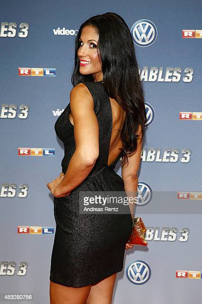 Anja Polzer attends the German premiere of the film 'The Expendables 3' at Residenz Kino on August 6 2014 in Cologne Germany