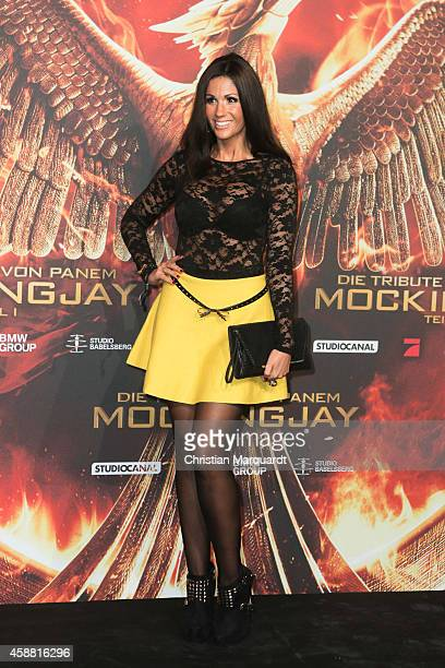 Anja Polzer attends the 'The Hunger Games Mockingjay Part 1' preview event at Kraftwerk Mitte on November 11 2014 in Berlin Germany