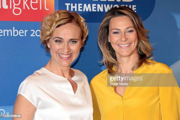 Anja Reschke and Caren Miosga attend the photo call for ARD theme week 'Gerechtigkeit' on September 18 2018 in Hamburg Germany
