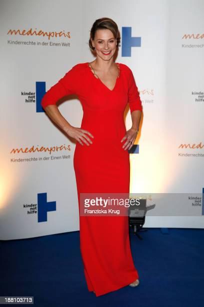 Anja Reschke attends the 15th Media Award By Kindernothilfe at Hauptstadtrepraesentanz Deutsche Telekom AG on November 15 2013 in Berlin Germany
