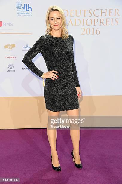 Anja Reschke attends the Deutscher Radiopreis 2016 on October 6 2016 in Hamburg Germany