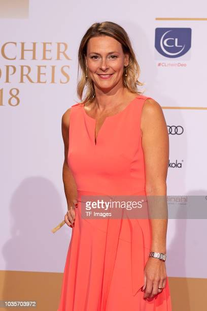 Anja Reschke attends the Deutscher Radiopreis at Schuppen 52 on September 6 2018 in Hamburg Germany