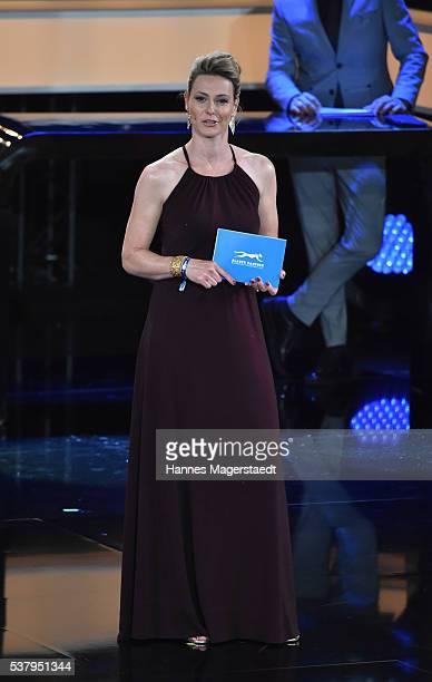 Anja Reschke during the Bayerischer Fernsehpreis 2016 show at Prinzregententheater on June 3 2016 in Munich Germany
