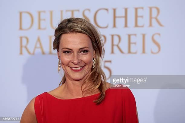 Anja Reschke poses during the Deutscher Radiopreis 2015 at Schuppen 52 on September 3 2015 in Hamburg Germany