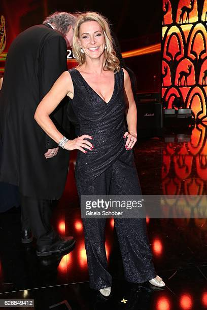 Anja Reschke wearing Talbot Runhof during the Bambi Awards 2016 show at Stage Theater on November 17 2016 in Berlin Germany