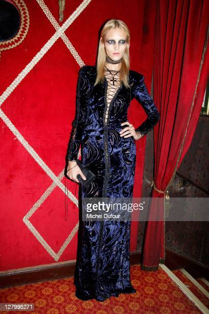 Anja Rubic attends the Irreverent Dinner At Raspoutine hosted by Carine Roitfeld Paris Fashion Week Spring / Summer 2012 at Cabaret Raspoutine on...