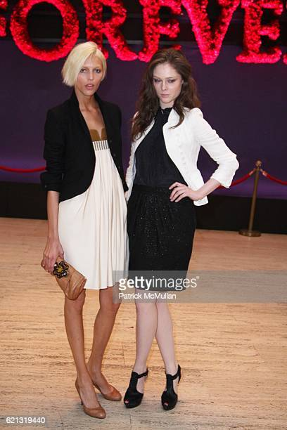 Anja Rubik and Coco Rocha attend A DIAMOND IS FOREVER Host a Spring Lunch Honoring ANTONY TODD at Grand Central Station on May 6 2008 in New York City