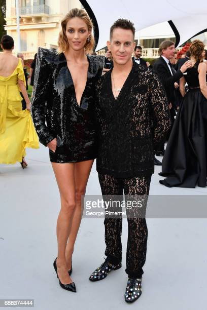 Anja Rubik and Jeremy Scott attend the amfAR Gala Cannes 2017 at Hotel du CapEdenRoc on May 25 2017 in Cap d'Antibes France