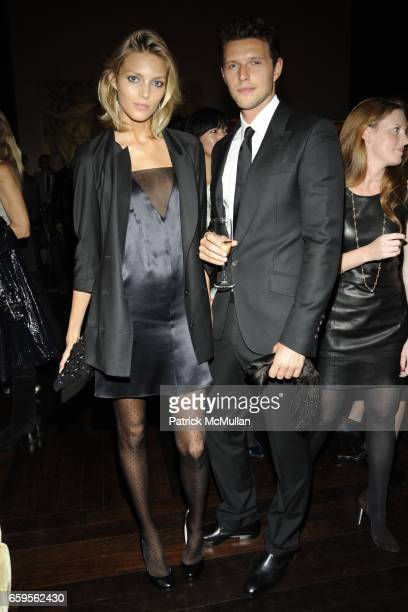 Anja Rubik and Sasha Knezevic attend Gwyneth Paltrow and VBH's Bruce Hoeksema Host Cocktail Party for Valentino The Last Emperor at VBH on October 27...