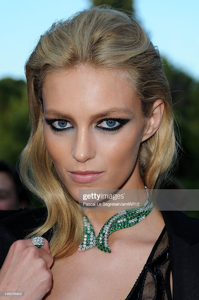 Anja Rubik arrives at the 2012 amfAR's Cinema Against AIDS during the 65th Annual Cannes Film Festival at Hotel Du Cap on May 24, 2012 in Cap D'Antibes, France.