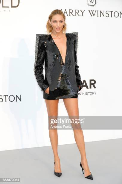 Anja Rubik arrives at the amfAR Gala Cannes 2017 at Hotel du CapEdenRoc on May 25 2017 in Cap d'Antibes France