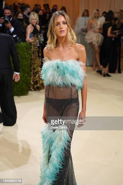 Anja Rubik attends 2021 Costume Institute Benefit - In America: A Lexicon of Fashion at the Metropolitan Museum of Art on September 13, 2021 in New...