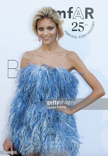Anja Rubik attends amfAR's Cinema Against AIDS Gala during the 64th Annual Cannes Film Festival at Hotel Du Cap on May 19 2011 in Antibes France