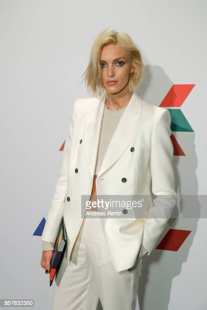 Anja Rubik attends an EAMES Celebration by HUGO BOSS and Vitra Design Museum at Lapidarium on October 4 2017 in Berlin Germany