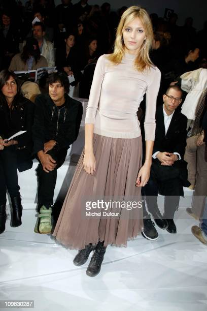 Anja Rubik attends during the Chloe Ready to Wear Autumn/Winter 2011/2012 show during Paris Fashion Week at Espace Ephemere Tuileries on March 7 2011...