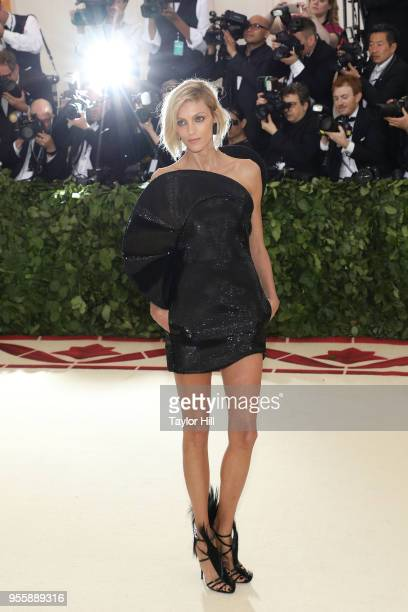 Anja Rubik attends Heavenly Bodies Fashion the Catholic Imagination the 2018 Costume Institute Benefit at Metropolitan Museum of Art on May 7 2018 in...