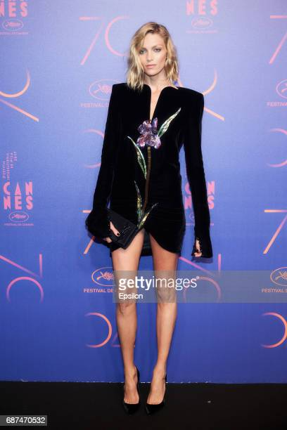 Anja Rubik attends the 70th Anniversary Dinner during the 70th annual Cannes Film Festival at on May 23 2017 in Cannes France