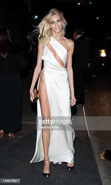 Anja Rubik attends the after party for the Schiaparelli and Prada Impossible Conversations Costume Institute exhibition on May 7 2012 in New York City