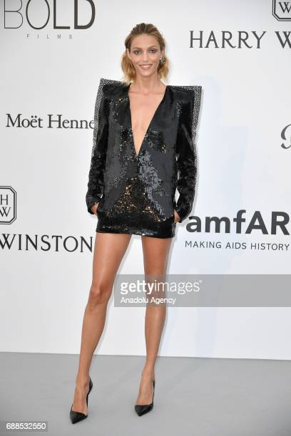 Anja Rubik attends the Amfar Gala at Hotel du CapEdenRoc in Cap d'Antibes France on May 26 2017